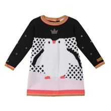 Catimini Baby girls Penguin Knitted dress