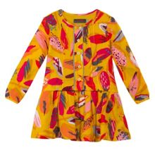 Catimini Girls Feathers printed dress