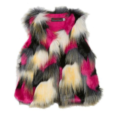 Catimini Girl faux-fur gilet