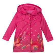Catimini Girl floral pattern waterproof jacket