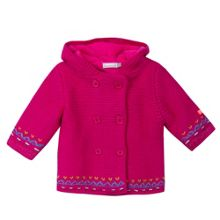 Catimini Baby girl coat in garter stitch