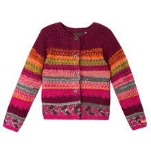 Catimini Baby girl ethnic knitted cardigan