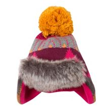 Catimini Girls Faux-Fur Lined Bobble Hat
