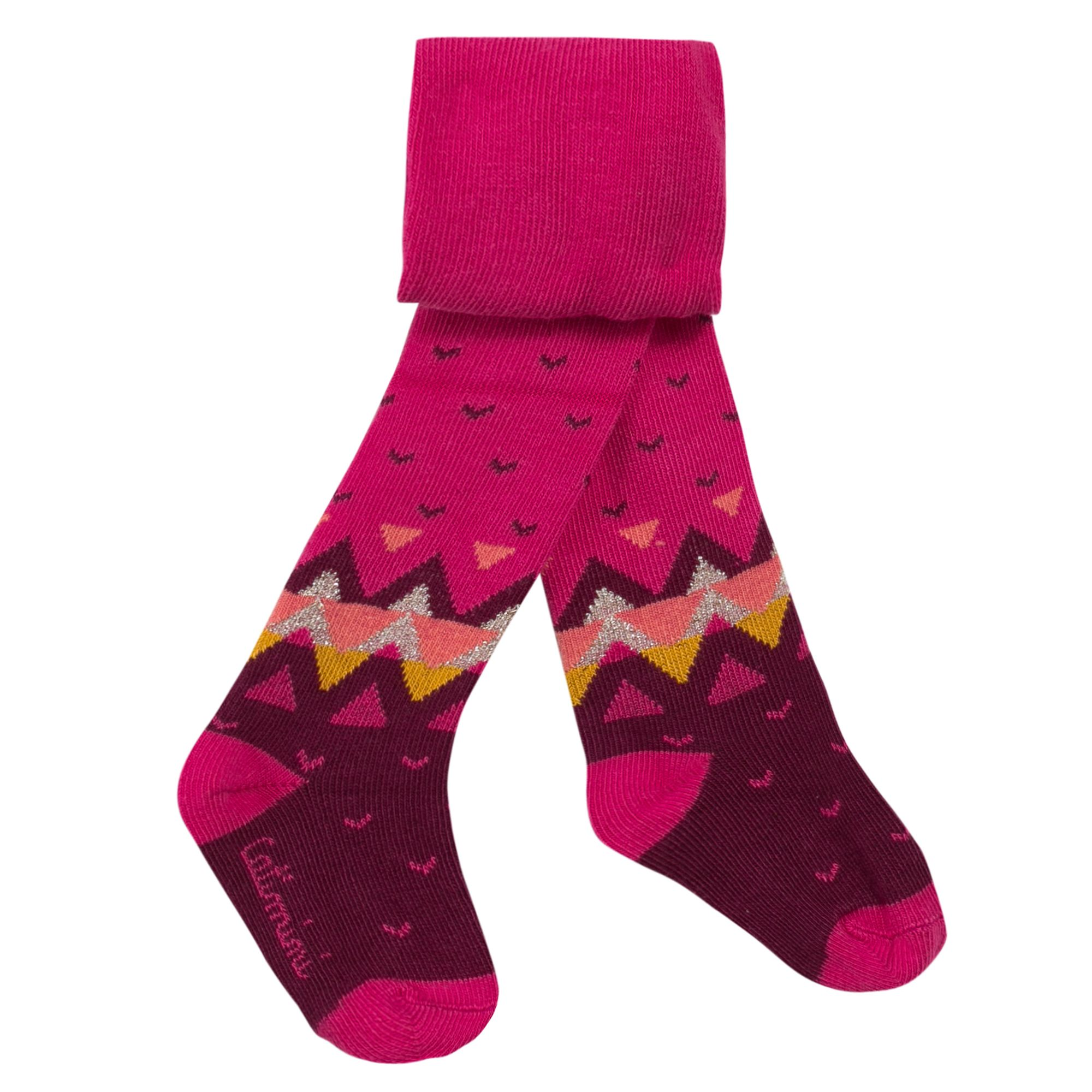 Catimini Catimini Girls fuchsia mix and match tights, Pink