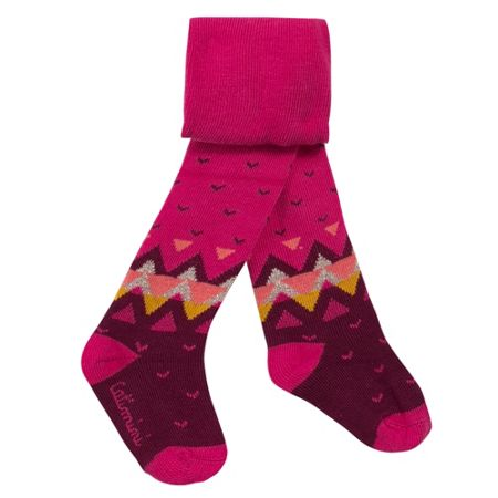 Catimini Girls fuchsia mix and match tights