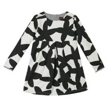 Catimini Girls two-tone printed dress