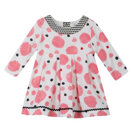 Catimini Baby girls polka-dot velour dress