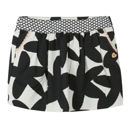 Catimini Girls two-tone printed cotton skirt