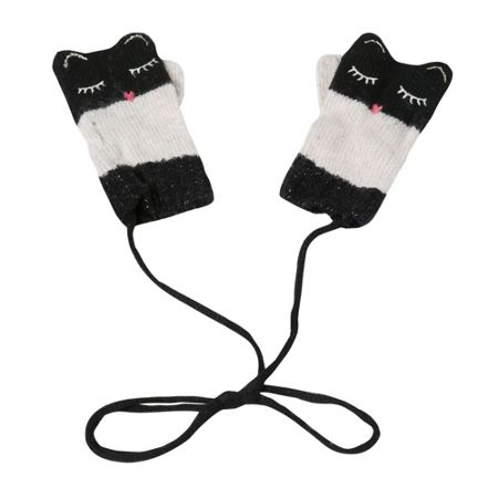 Catimini Girls Cat Mittens
