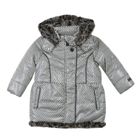 Catimini Girls mini-heart printed down jacket
