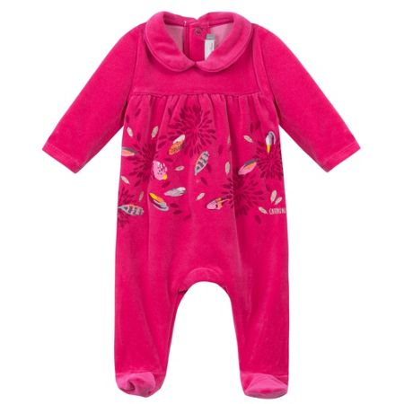 Catimini Baby girls velour babygrow