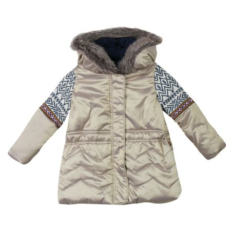 Catimini Girls gold-shell parka