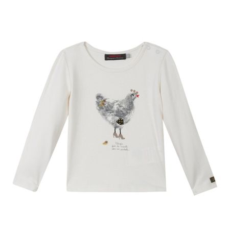 Catimini Girls Cute hens T-shirt