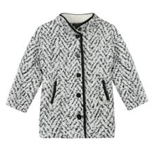 Catimini Girl knitted chevron coat
