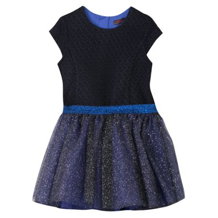 Catimini Girl dress with sequined tulle slip