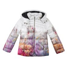 Catimini Girls Landscape printed down jacket