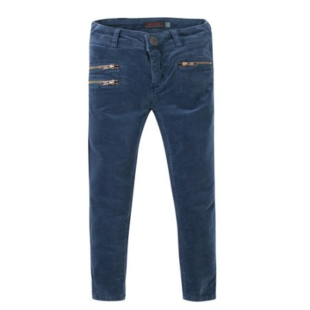 Catimini Girls skinny corduroys: peacock blue