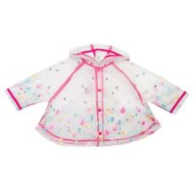 Catimini Girls Hooded Transparent Raincoat