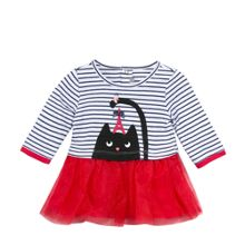 Catimini Girls Polka Dot Bow Dress