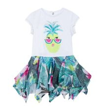 Catimini Girls Pineapple Illustration Dress