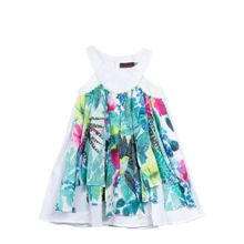 Catimini Girls Fringe Detail dress