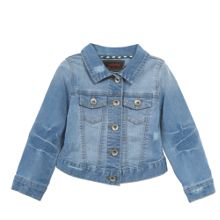 Catimini Girls Embroidered Denim Jacket
