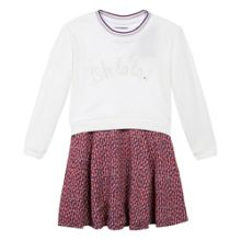 Catimini Girls dress and Sweatshirt Set