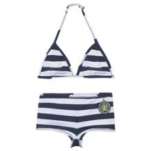 Kenzo Girls navy and white reversible bikini