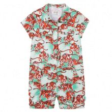 Kenzo Girls green playsuit `Jungle` theme