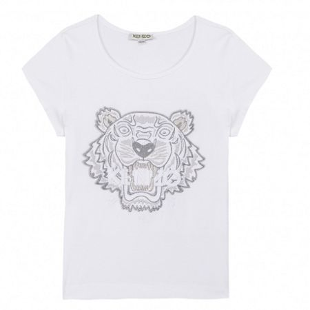 Kenzo Girls T-Shirt Tiger Kiosque` theme