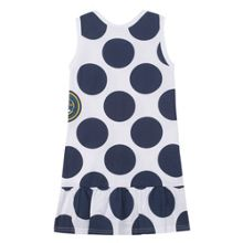 Kenzo Girls white dress `Funny Stripes` theme