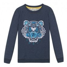 Kenzo Unisex navy blue sweatshirt Tiger` theme