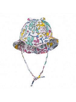 Girls multicoloured sun hat