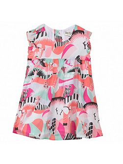 Girls sleeveless blouse `Animals Party`