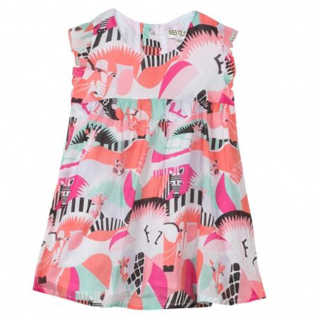 Kenzo Girls sleeveless blouse `Animals Party`