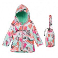 Kenzo Girls hooded raincoat `Animals Party`