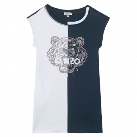 Kenzo Girls dress `Tiger Kiosque` theme
