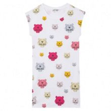 Kenzo Girls white dress  Tiger Kiosque` theme