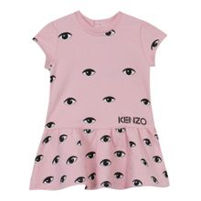Kenzo Girls pink dress `Tiger Kiosque` theme