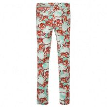 Kenzo Girls green jeans `Jungle` theme
