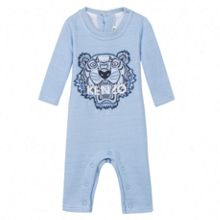 Kenzo Unisex light blue babygrow `Tiger` theme