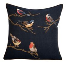 Yves Delorme Rendez-vous nuit cushion cover 45x45