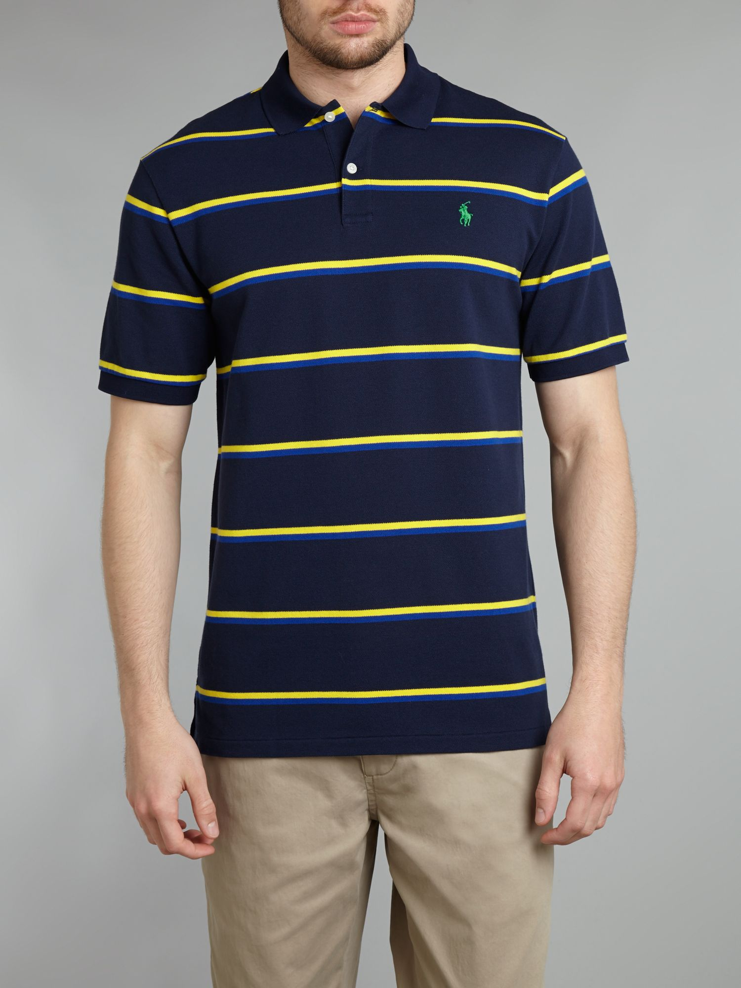 Classic striped polo shirt