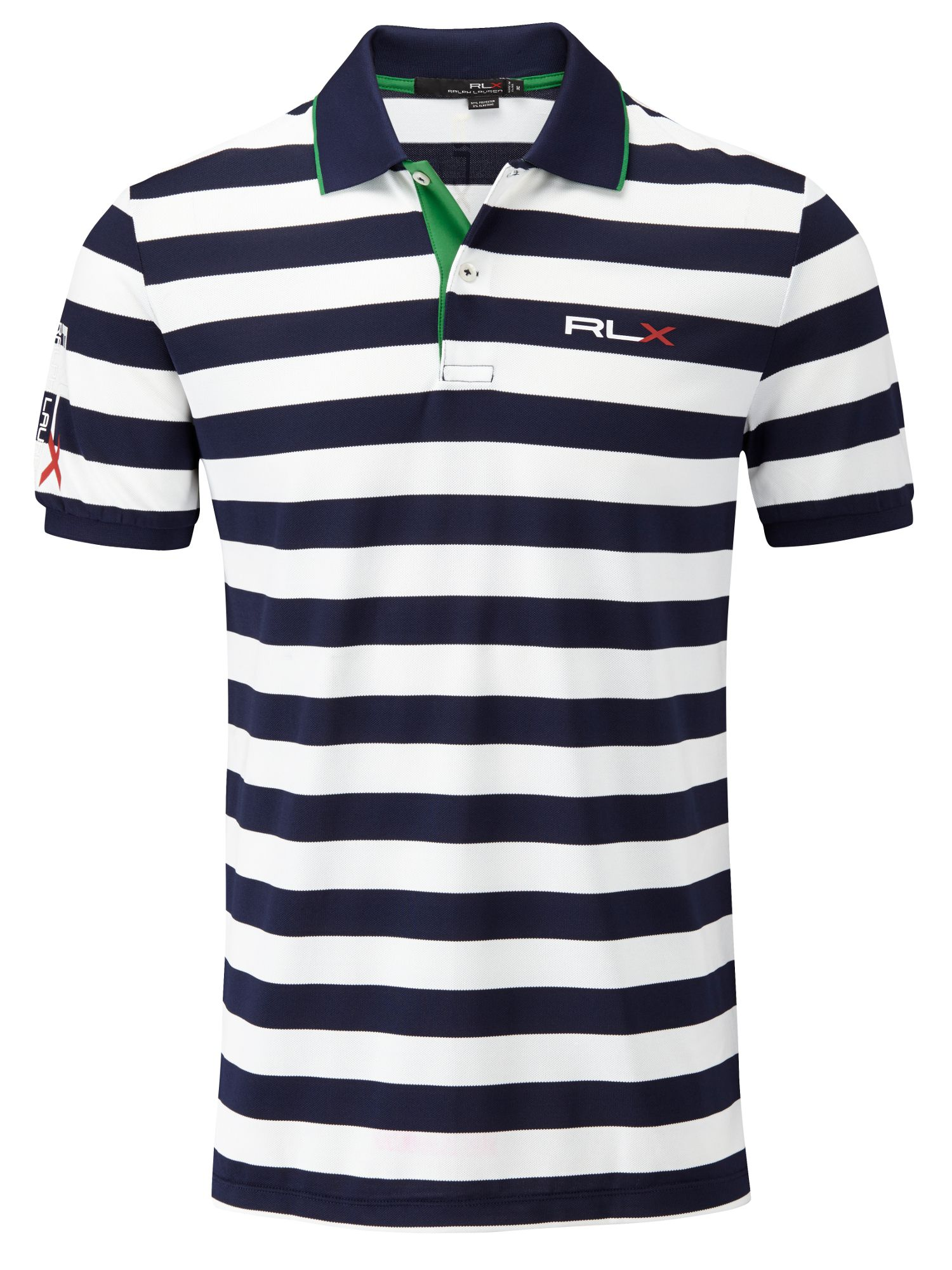 Stripe polo shirt tour fit