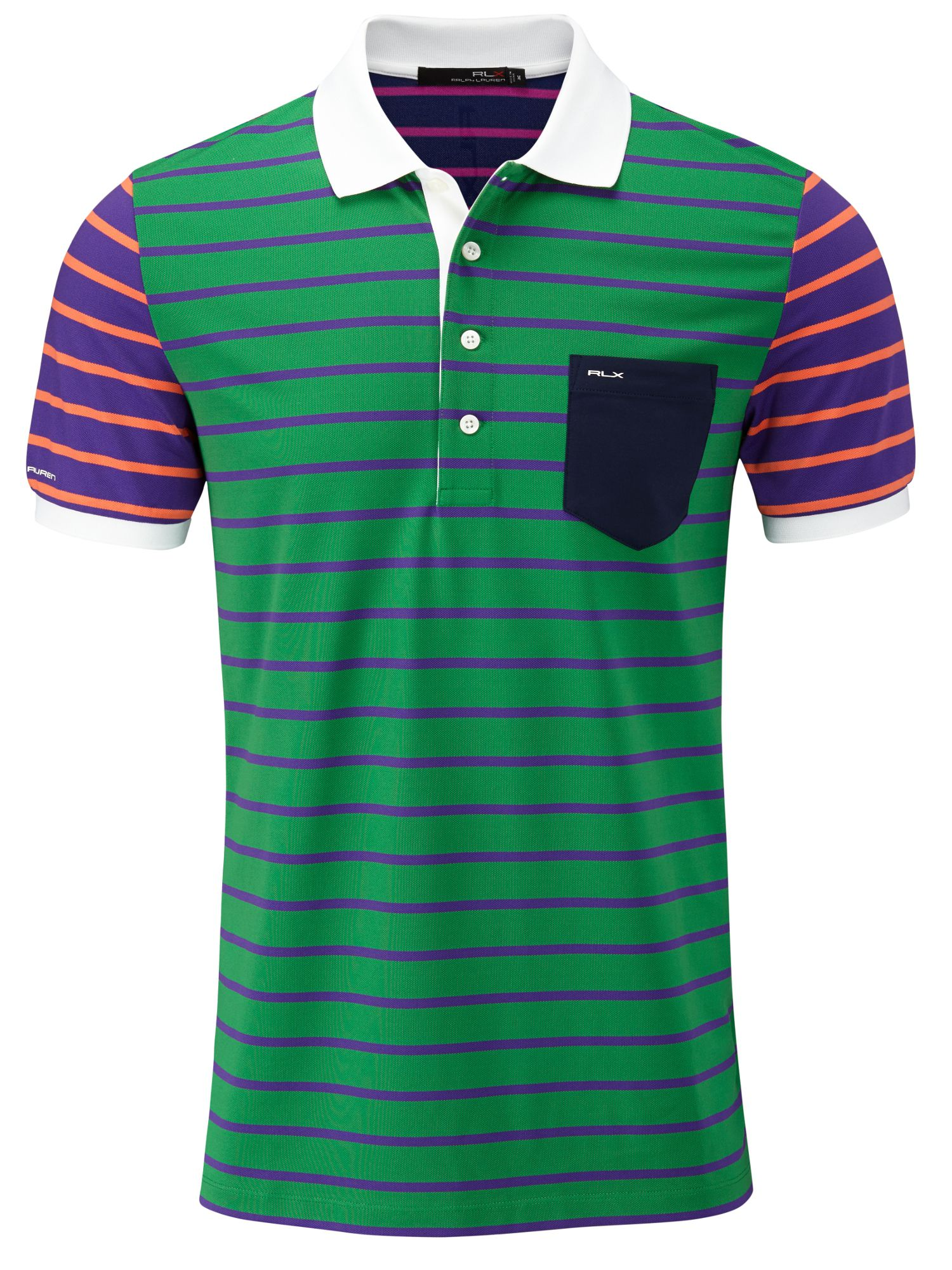 Print striped polo shirt tour fit
