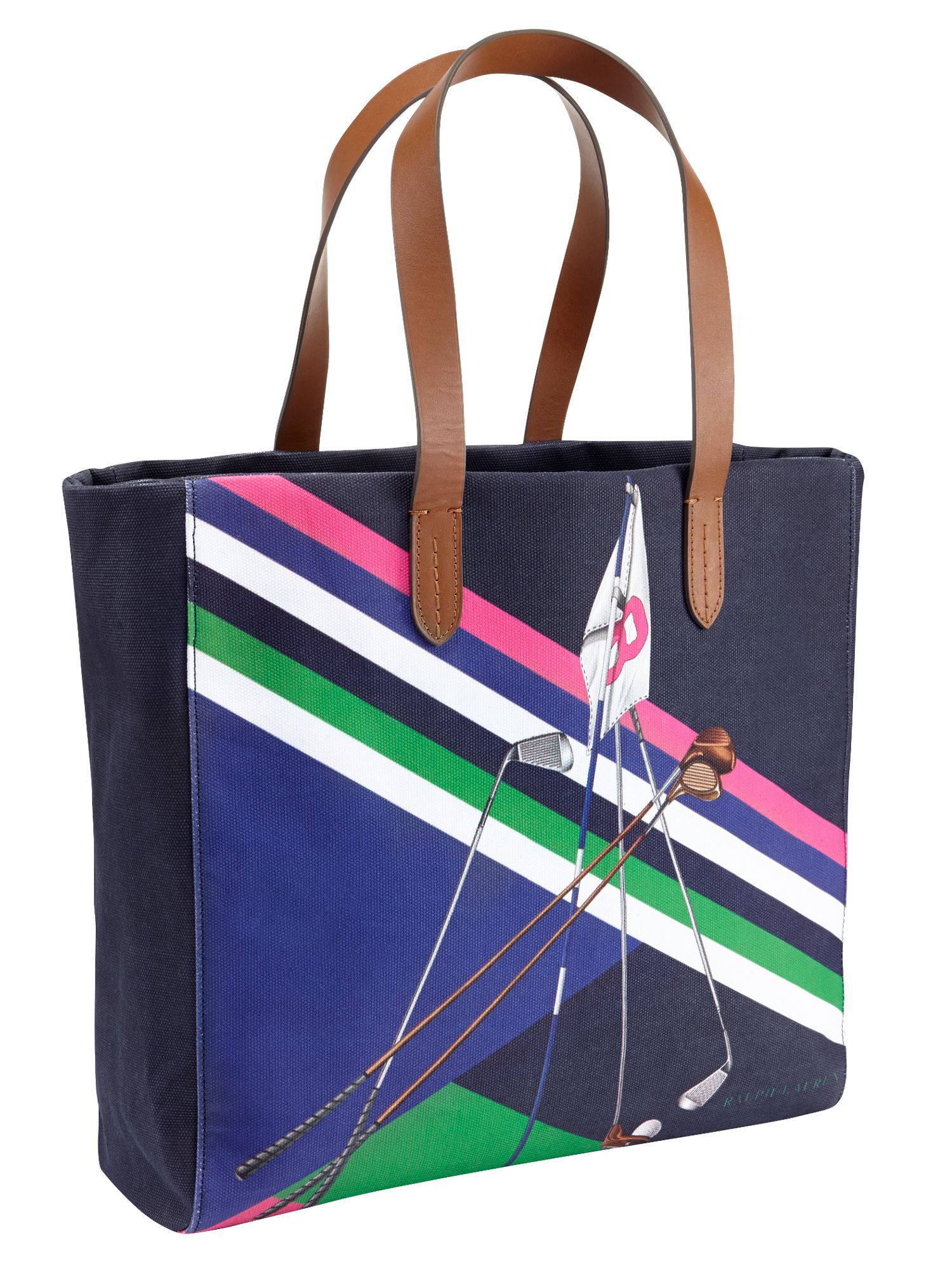 Golf printed tote bag