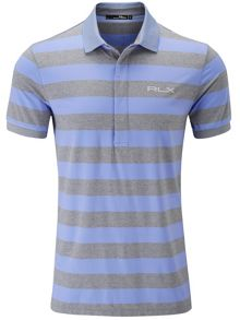 Striped pro fit polo shirt