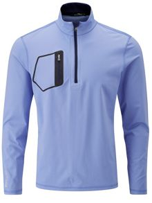 Half zip solid wind jumper