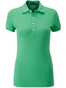 Solid mesh knit polo
