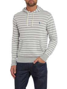 Small stripe hooded sweatshirt
